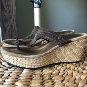 Ugg Leather Wedge Sandal